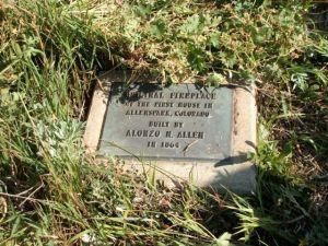 Allen cabin plaque